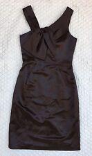 MILLY OF NEW YORK Formal Dress Chestnut Brown Assymetrical Sheath sz 0 NWT $385