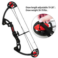 USA MAK Teens Compound Bow Set Draw Weight 15-29lbs W/ 3pcs Arrow Hunting Target