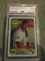 2018 Topps Heritage Juan Soto Washington Nationals RC Rookie PSA 9 MINT QTY AVL