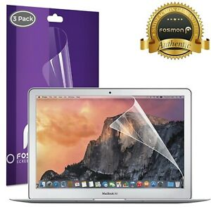 Fosmon 3X Crystal Clear Screen Protector Cover Laptop for Macbook Air 13.3 inch