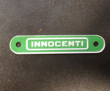 "Seat / saddle badge ""Innocenti"" green for Lambretta TV"