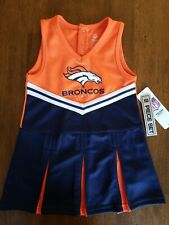 NEW Denver Broncos Cheerleader Dress Outfit Girls Baby Toddler Size 2T