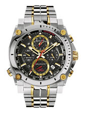 Bulova Men's Precisionist Chronograph Carbon Fiber Dial 47 mm Watch 98B228