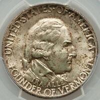1927 Vermont 50c Commemorative Silver Half Dollar MS66 PCGS
