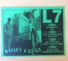 L7 Gig Flyer Hollywood 1994