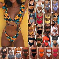 Women High Waist Bikini 2PC Set Swimsuit Push Up Beachwear Swimwear Bathing Suit