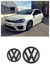 GRILLE & HATCH BADGE FOR VW VOLKSWAGEN GOLF7 MK7 MKVII GTI OR GOLF R MATTE BLACK
