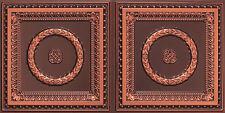 # 8210 Antique Copper  4' x 2' PVC Decorative Ceiling Tile  Glue Up / Grid