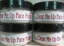Clear Me Up Face Polish, 100% Natural, Acne Microdermabrasion Scrub Oily Skin