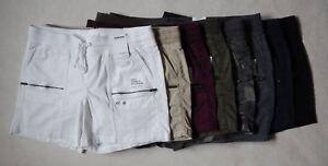 NEW Sonoma Womens Comfort White Khaki Burgundy Olive Navy Black Shorts 16W – 24W