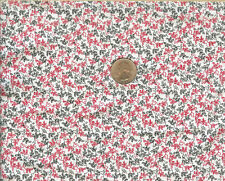 PRETTY! RED/BLACK FLORAL ON WHITE - BLANK QUILTING - BTY