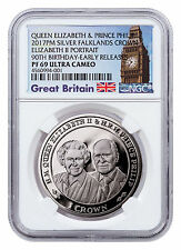 2017 Falkland Queen Elizabeth II & Phillip 90th 1 oz NGC PF69 UC ER SKU48447