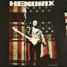 Official ~ Jimi Hendrix American Flag Fender Stratocaster Guitar MEDIUM T-shirt
