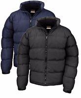 Mans Mens Warm Down Feel Urban Jacket Coat BLACK or NAVY DARK BLUE