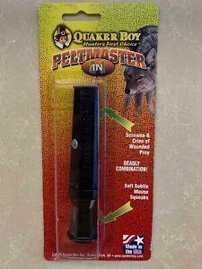 NEW Quaker Boy Peltmaster Predator Game Call Fox Whistle Hunting Caller Duo Tone