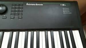 Kurzweil PC88 vintage synthesizer piano plus stand