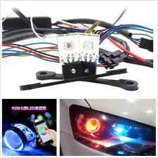 2pc Bluetooth APP Control RGB LED Light Devil Eyes Bulbs Car Headlights Retrofit