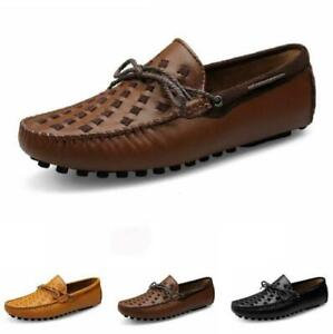 Mens Business Leisure Shoes Driving Moccasins Slip on Pumps Loafers Breathable