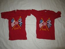 Lot of 2 Vintage 70s Champion Blue BAR T-Shirt Youth sz small 6-8 Deadstock