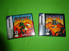 Empty Replacement Cases   -  Doom 1 II 2  - Nintendo Game Boy Advance, GBA