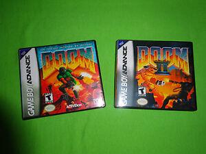 Empty Replacement Cases   -  Doom 1 II 2  - Nintendo Game Boy Advance, GBA