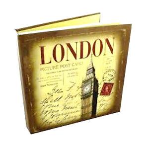 "2x LONDON City Print Chunky 100 Memories Album de fotos 6 ""x 4"" Acetate Sleeves"