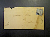 Baden SC# 12 on Cover / Stamp Torn / Appears Prussian or Dark Blue - Z4032