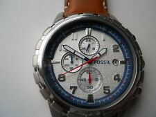 New Fossil men's chronograph leather band Analog,Quartz & battery watch.Fs-5069