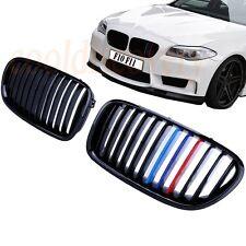 M color Glossy Black Front Kidney Grilles for BMW F10 F18 528i 530i 550i 2010-13