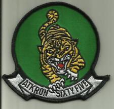 ATKRON SIXTY FIVE US.NAVY PATCH VA-65 TIGERS COMBAT AIRCRAFT PILOT USA AVIATOR