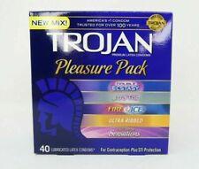 Trojan Pleasure Pack Assorted Premium Latex Condoms 40 Count w/Free Shipping