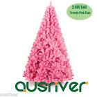 2.4M 8FT Pink Christmas Tree Xmas Decoration Metal Base 1376 Tip Jupiter PNK240