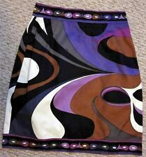 "EMILIO PUCCI SZ 42/6 MULTICOLOR 100% COTTON SKIRT 25-26"" WAIST - ITALY-RT. $695"