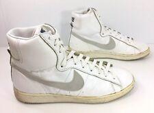 561b8d3a3 Vintage NIKE 1984 80s Blazer White Leather High Hi Tops Sneaker Shoes Men s  8