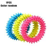 1Pc Dogs Toy Soft Rubber Ring Dental Teething Play Train Puppy Pet Chew C1M7