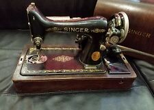 Vintage Portable Singer Sewing Machine in Bent-Wood Case Model 99