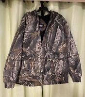 Men's Outfitters Ridge Realtree Hardwoods Camouflage Winter Hooded Jacket XXL