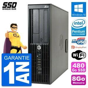 PC HP WorkStation Z210 SFF Intel Pentium G630 RAM 8Go SSD 480Go Windows 10 Wifi