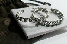 "John Hardy *RARE* Padi Large Sterling Silver Hoop Earrings - 2"" - $495"