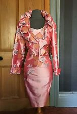 STUNNING BNWT PAULE VASSEUR MOTHER OF THE BRIDE SILK DRESS AND JACKET, SIZE 16