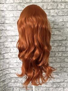 Full Head Wig Hairpiece. Synthetic Fibres. #T1439 Copper. 22 Inch Wave. UK