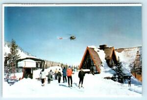 BRIGHTON, Utah UT ~ New Ski Chalet MOUNT MAJESTIC MANOR Helicopter  Postcard