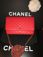 New CHANEL Limited Edition RARE Red WOC GHW
