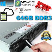 """Dell PowerEdge R720 Xeon E5-2690 2.90GHz 64GB DDR3 H710 Mini 4x 2.5"""" CADDIES/SSD"""