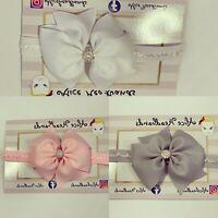 Ribbon Bow Soft Lace Band Baby Girl Headbands Newborn Toddler Variety + Lot