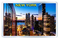 NEW YORK SUNSET MOD4 FRIDGE MAGNET SOUVENIR IMAN NEVERA