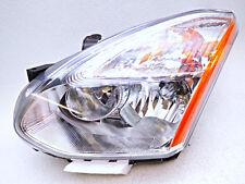 New Aftermarket TYC Left Driver Halogen Chrome Headlamp Fits Nissan Rogue