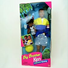 Big Brother African American Ken and Baby Brother Tommy Mint in worn /damage box
