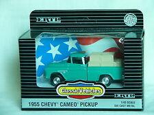 1/43-1955 Chevy Cameo Pickup Truck/Dime Bank-Turquoise-Ertl-NIB-1994