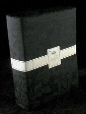 """100% Cotton Black Curtains Floral Jacquard 90"""" x 90"""" Fully Lined with 2 Tiebacks"""